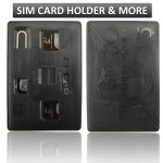 SIM Card Holder Case slim & compact, Credit Card Style