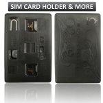 SIM Card Holder Case slim & compact, Credit Card Style