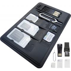 SIM Card Holder Case With Memory Card Reader