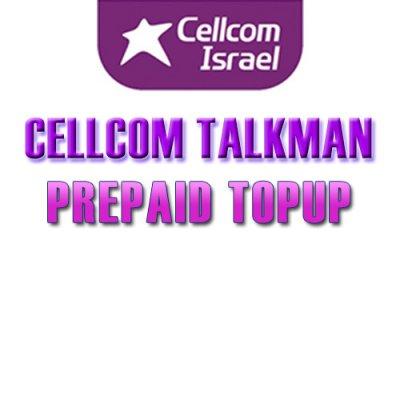 TopUp Cellcom Israel Prepaid SIM > Recharge Cellcom SIM Online